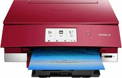 brand new Canon TS8220 Wireless All in One Photo Printer red