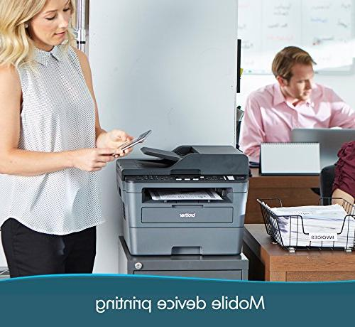 Brother Monochrome Laser Compact Multifunction Printer, MFCL2710DW, Wireless Networking Amazon