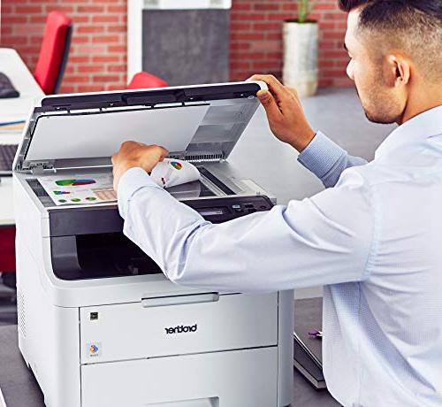 Brother Color Providing Laser Printer Convenient Flatbed Copy & Scan, Printing Duplex Amazon Replenishment Enabled