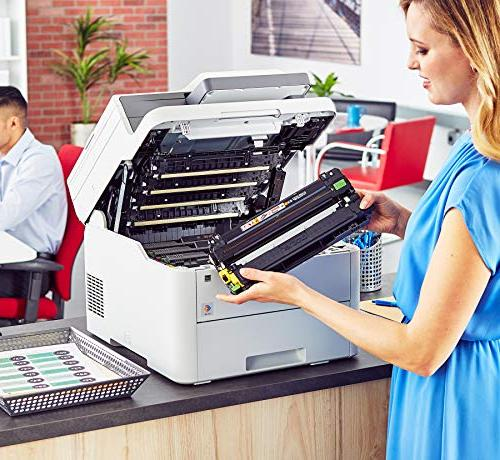 Brother MFC-L3710CW Color All-in-One Printer Laser Quality with Wireless, Amazon Replenishment