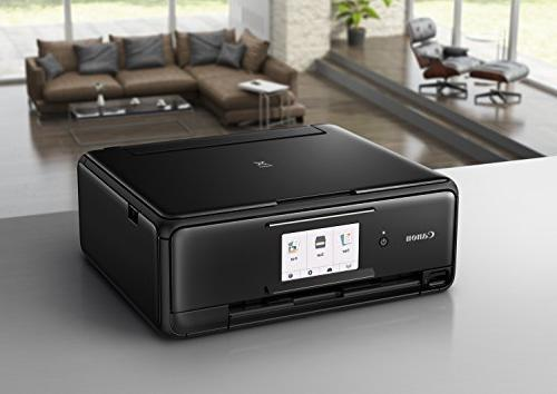 Canon TS8120 Printer with Copier: Printing, Airprint and Google compatible, Black