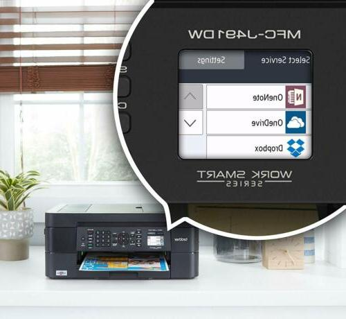 Brother Wireless Printer, MFC-J491DW,Color/Duplex/Mobile
